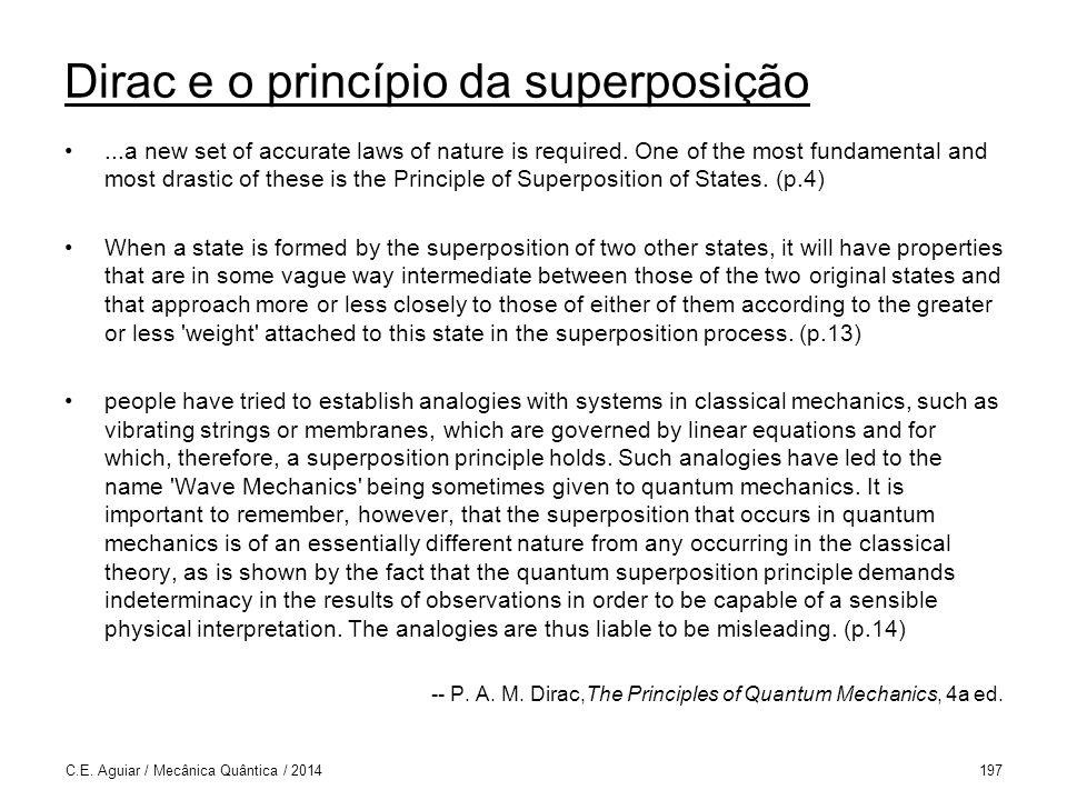 Dirac e o princípio da superposição
