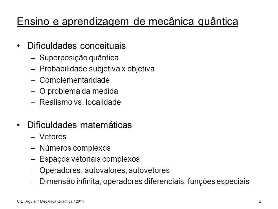Ensino e aprendizagem de mecânica quântica