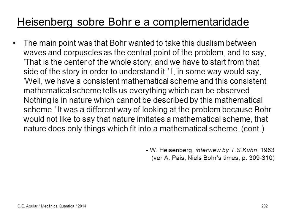 Heisenberg sobre Bohr e a complementaridade