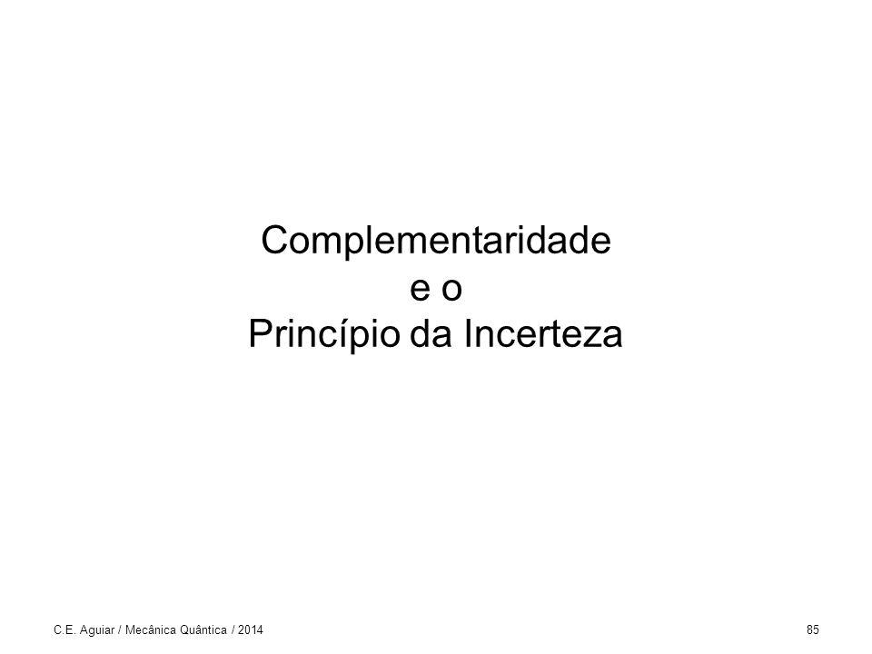 Complementaridade e o Princípio da Incerteza