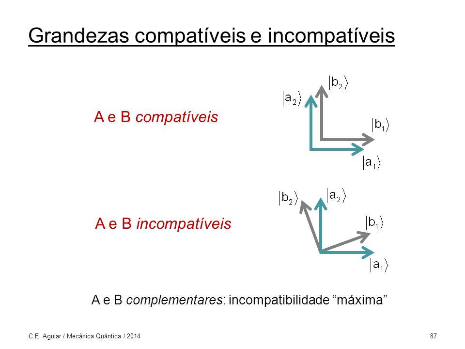 Grandezas compatíveis e incompatíveis