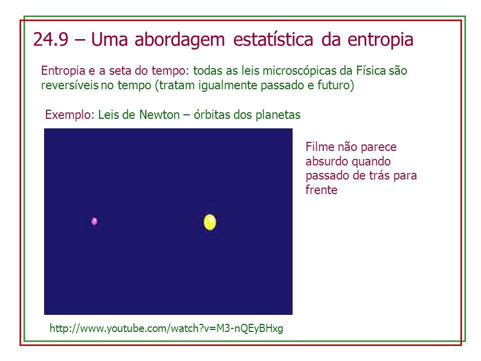 24.9 – Uma abordagem estatística da entropia