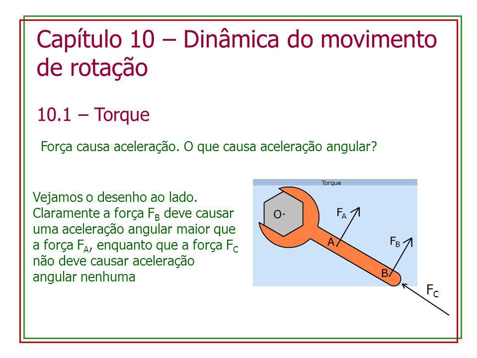 Capítulo 10 – Dinâmica do movimento de rotação