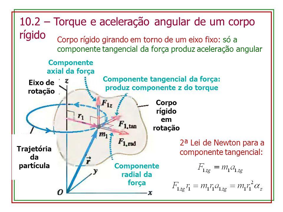 10.2 – Torque e aceleração angular de um corpo rígido