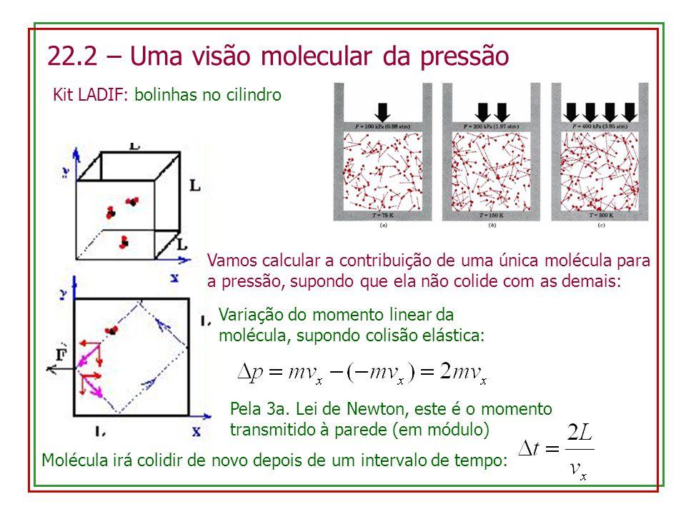 22.2 – Uma visão molecular da pressão