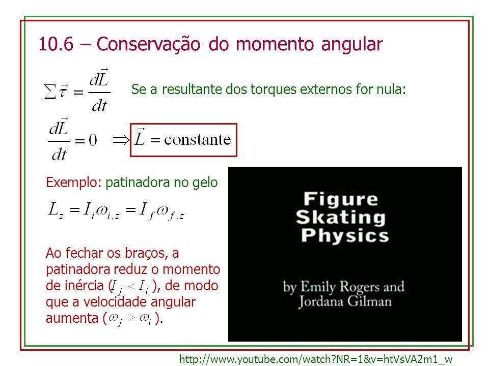 10.6 – Conservação do momento angular