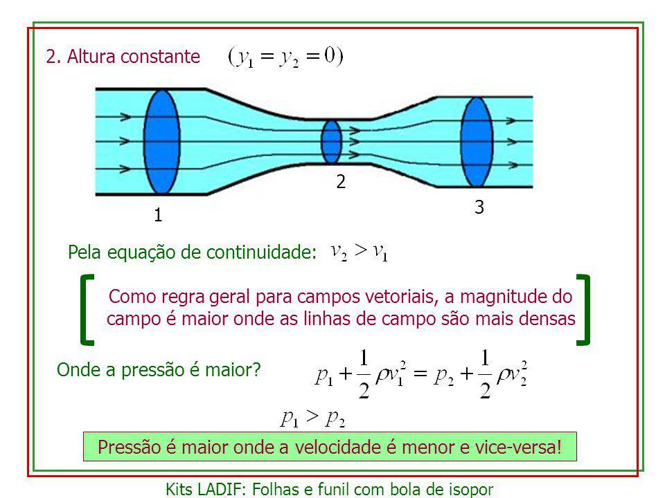Pela equação de continuidade: