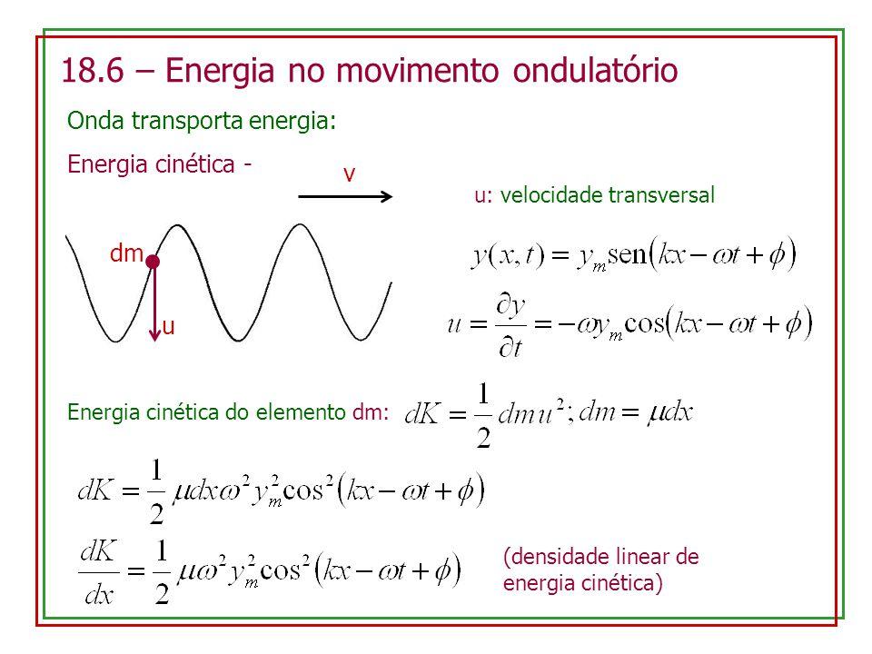 18.6 – Energia no movimento ondulatório