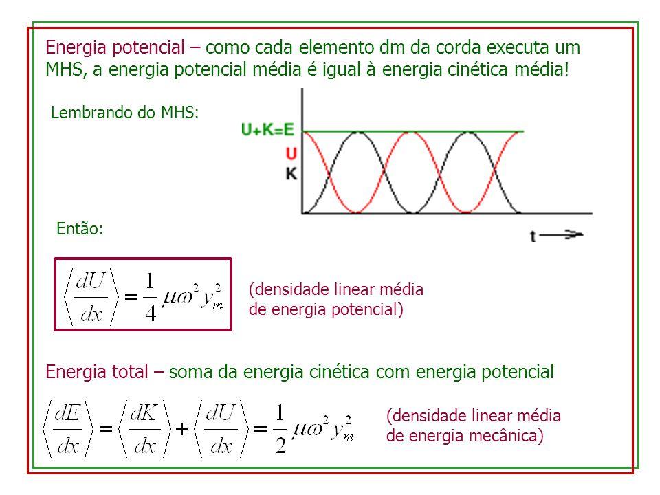 Energia total – soma da energia cinética com energia potencial