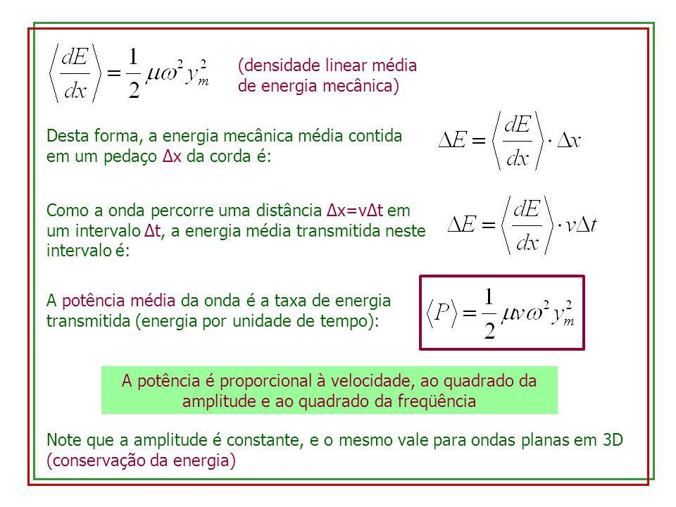 (densidade linear média de energia mecânica)