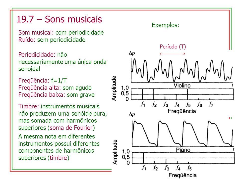 19.7 – Sons musicais Exemplos: Som musical: com periodicidade