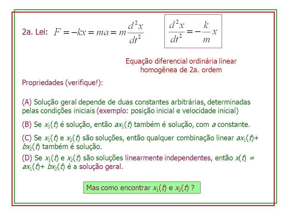 Equação diferencial ordinária linear homogênea de 2a. ordem