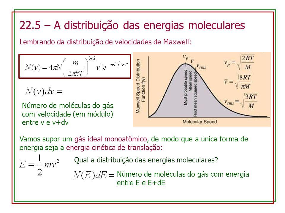 22.5 – A distribuição das energias moleculares