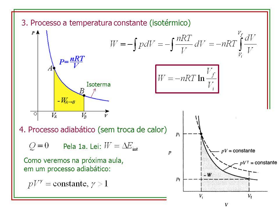 3. Processo a temperatura constante (isotérmico)