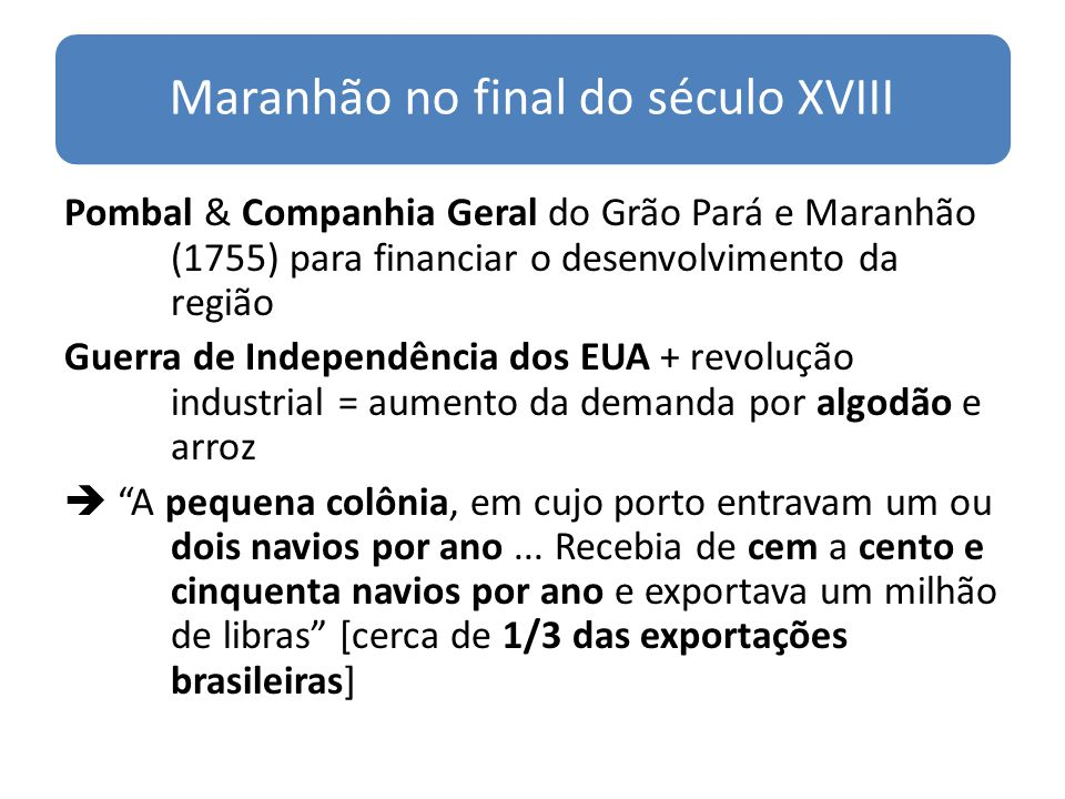 Maranhão no final do século XVIII