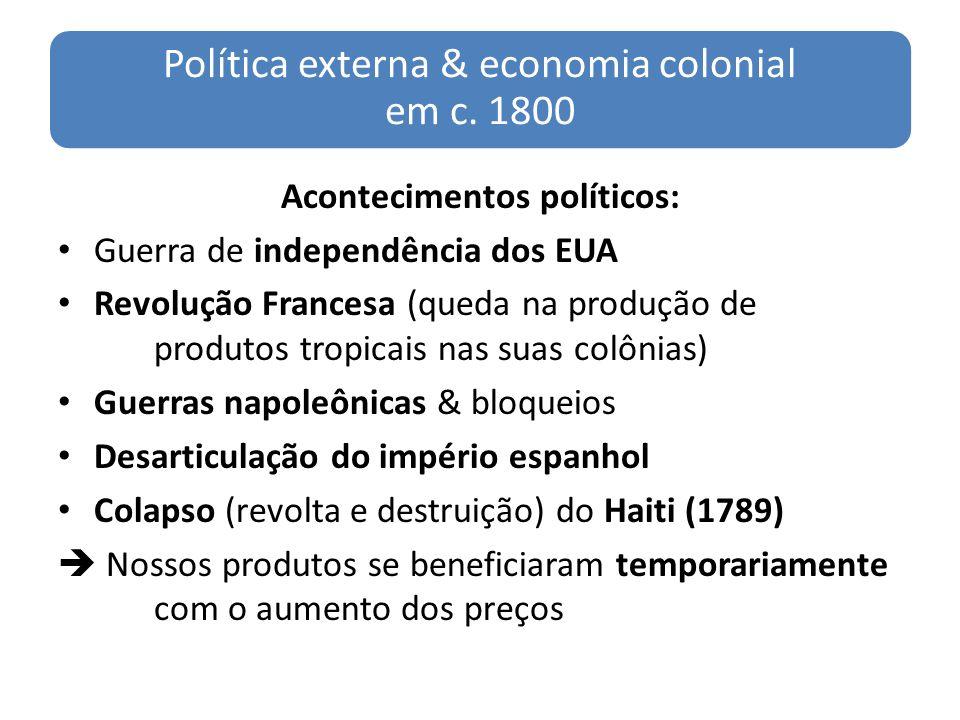 Acontecimentos políticos: