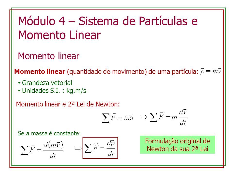 Formulação original de Newton da sua 2ª Lei