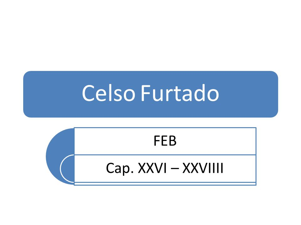 Celso Furtado FEB Cap. XXVI – XXVIIII