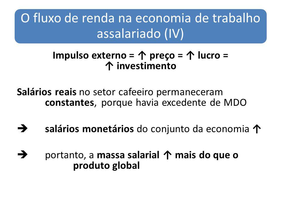O fluxo de renda na economia de trabalho assalariado (IV)