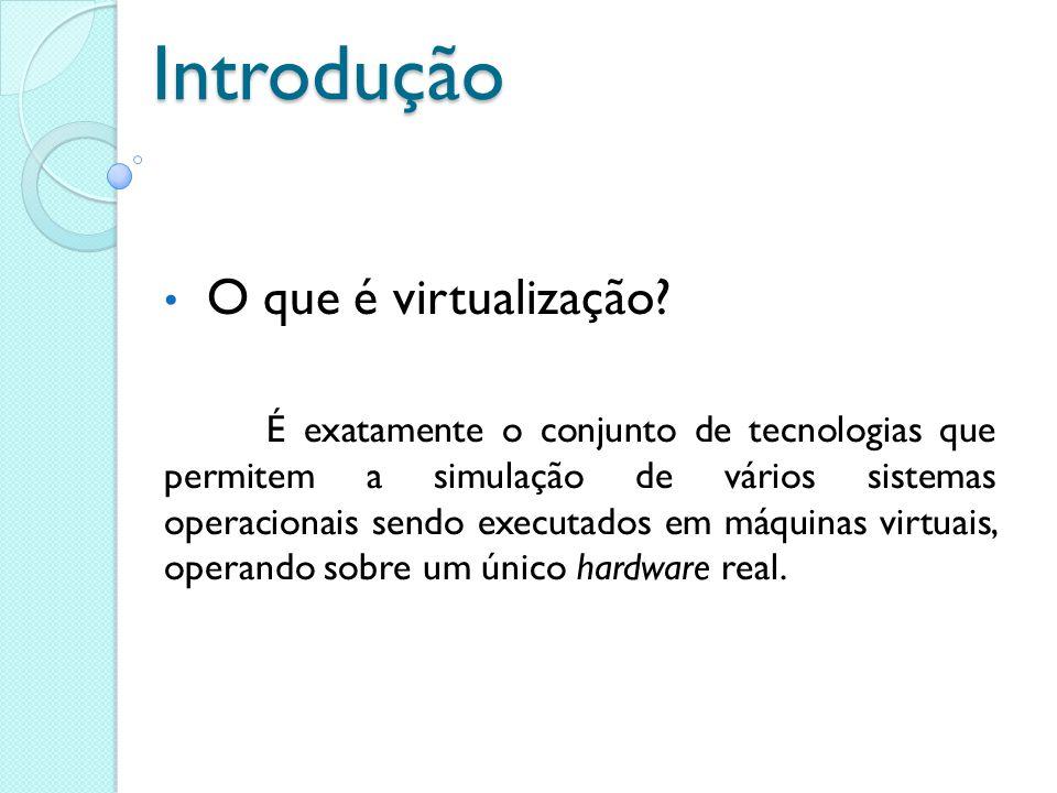 Introdução O que é virtualização