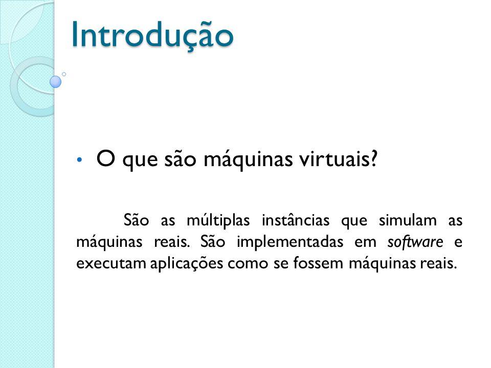 Introdução O que são máquinas virtuais