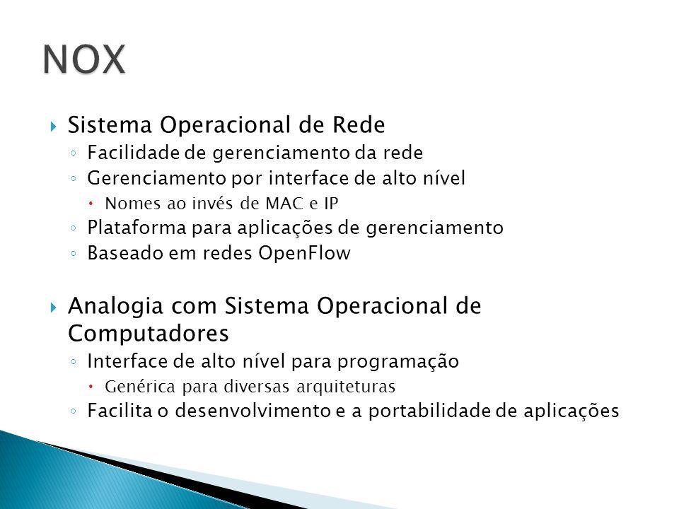 NOX Sistema Operacional de Rede