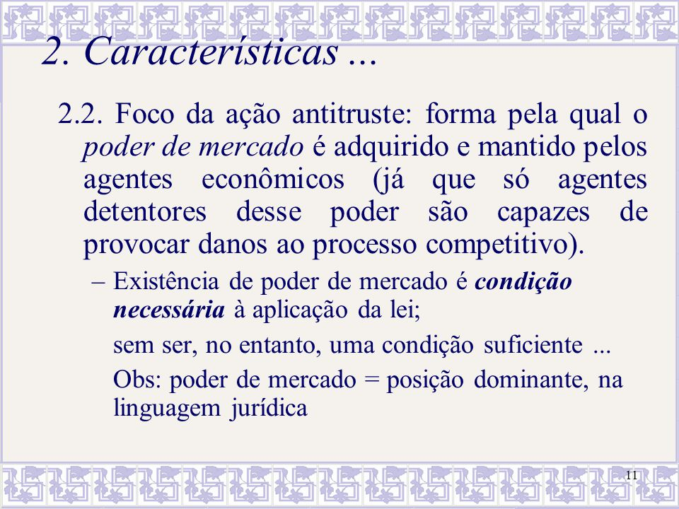 2. Características ...
