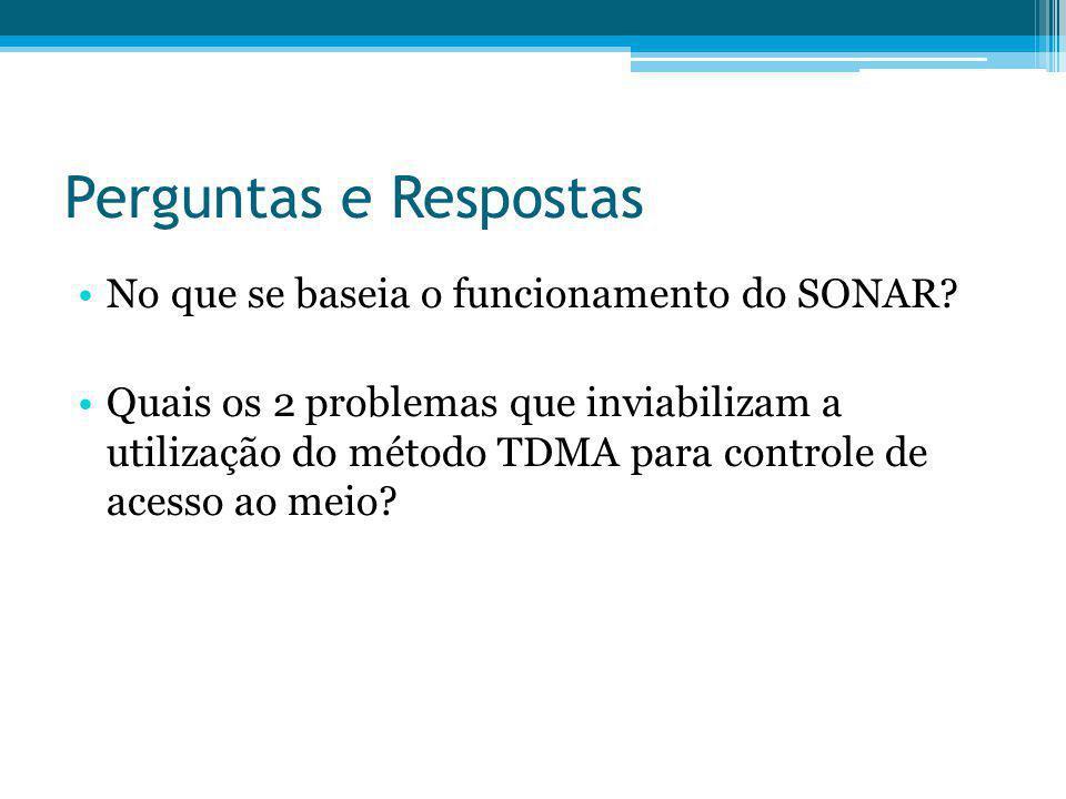 Perguntas e Respostas No que se baseia o funcionamento do SONAR