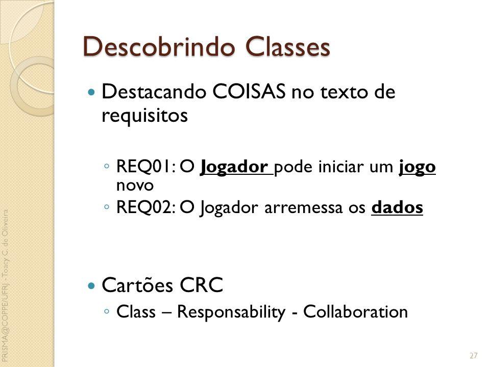Descobrindo Classes Destacando COISAS no texto de requisitos