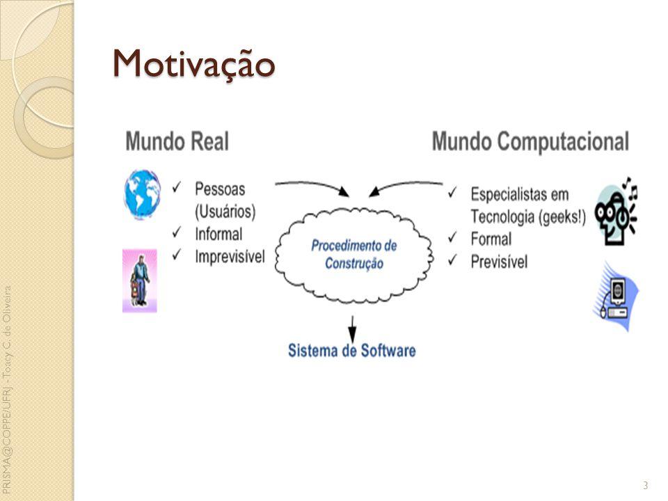 Motivação PRISMA@COPPE/UFRJ - Toacy C. de Oliveira