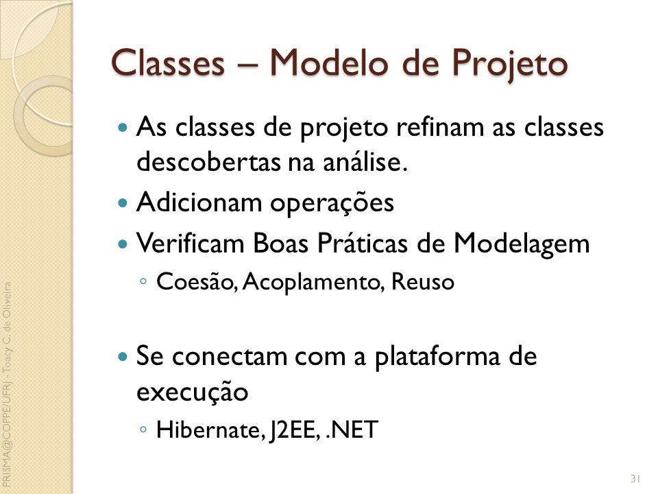 Classes – Modelo de Projeto