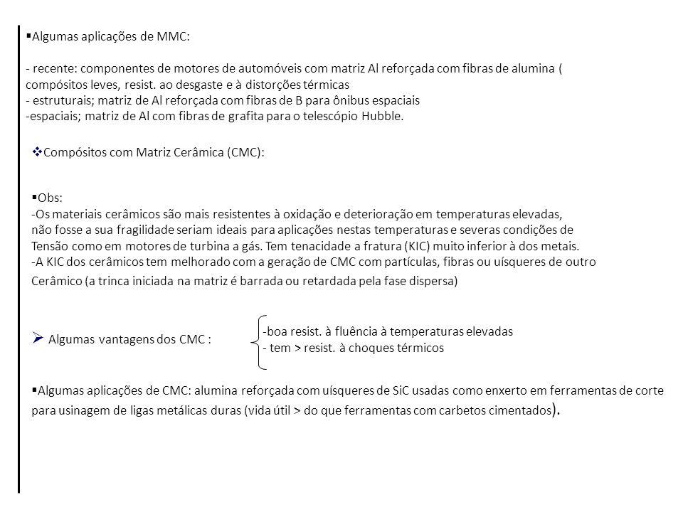 Algumas vantagens dos CMC :