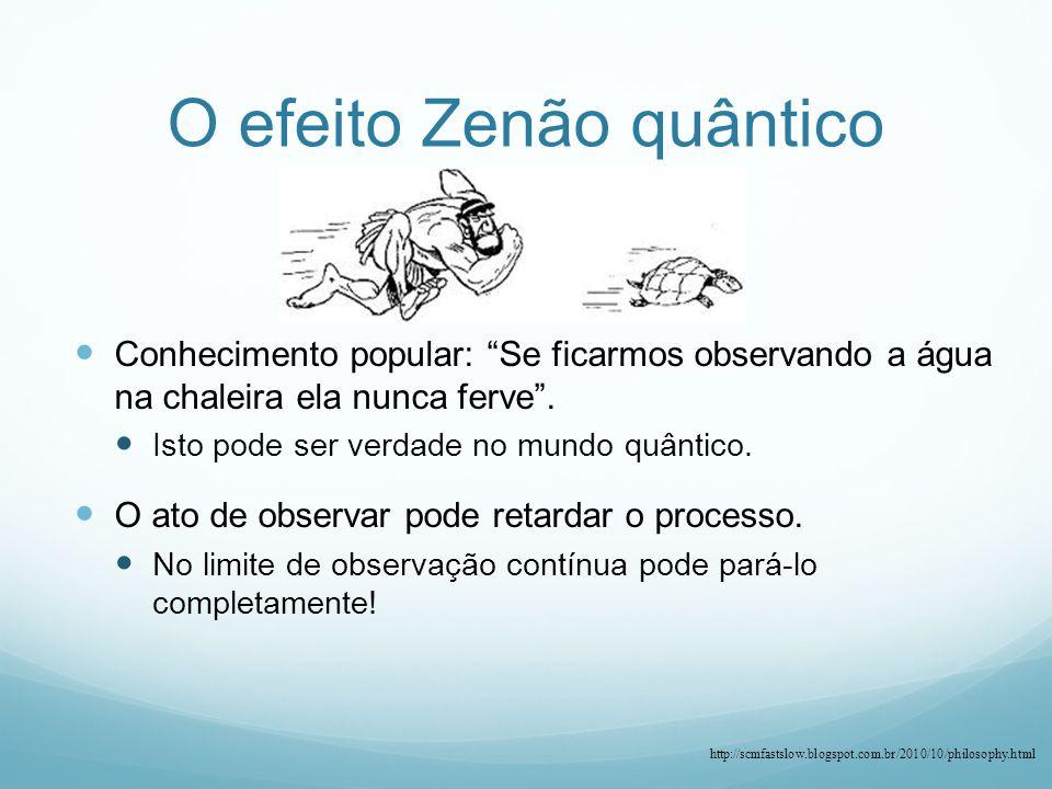 O efeito Zenão quântico
