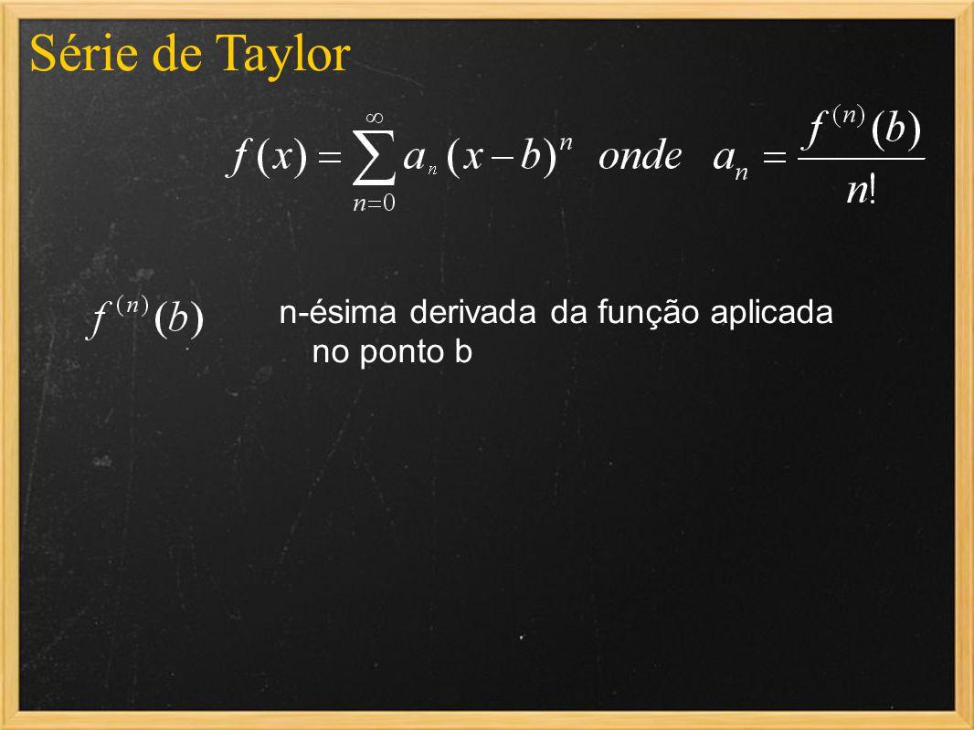 Série de Taylor n-ésima derivada da função aplicada no ponto b