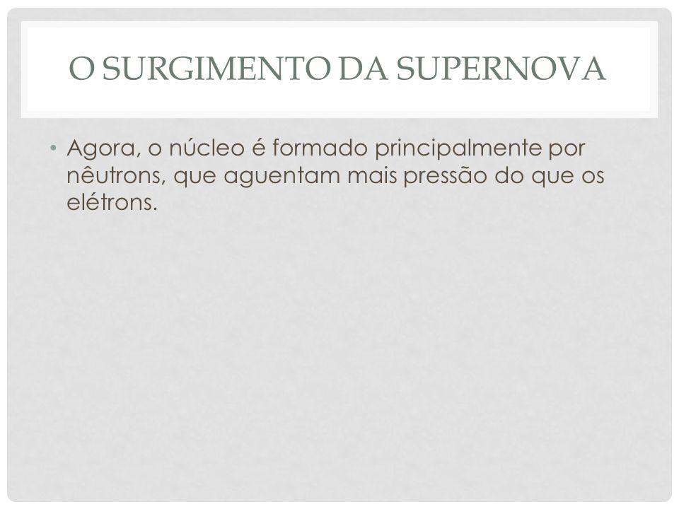 o surgimento da supernova
