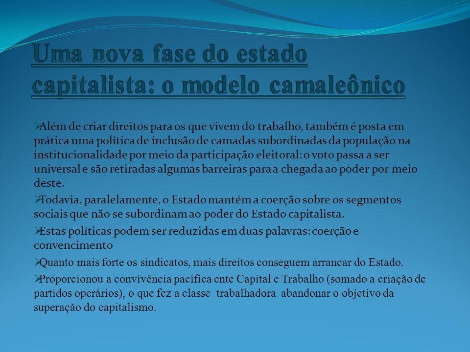Uma nova fase do estado capitalista: o modelo camaleônico