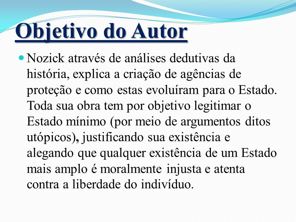 Objetivo do Autor