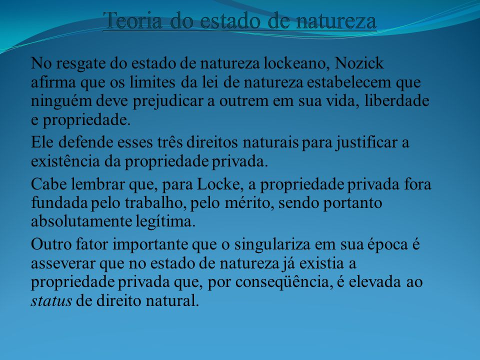Teoria do estado de natureza