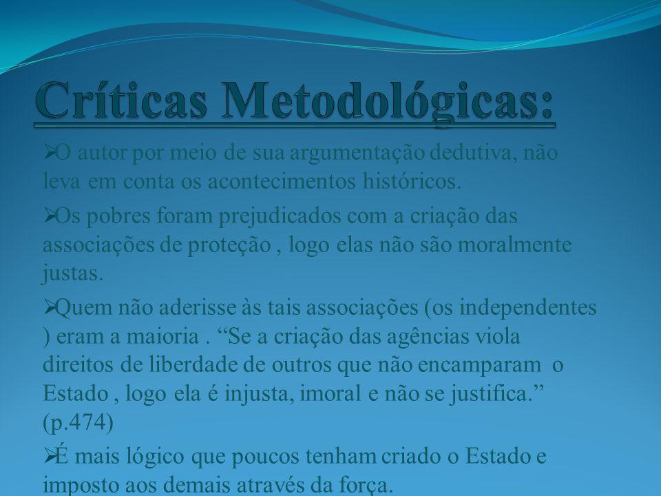 Críticas Metodológicas: