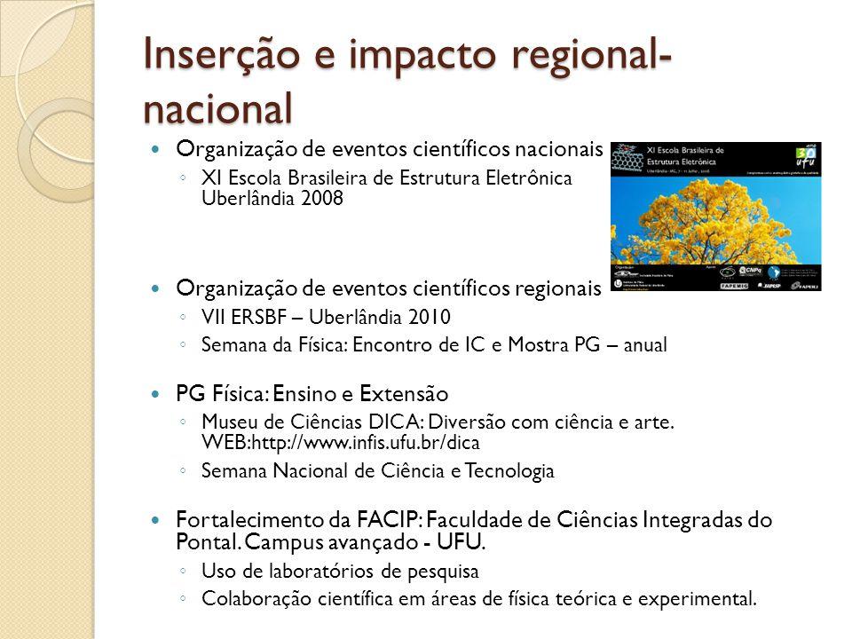 Inserção e impacto regional-nacional