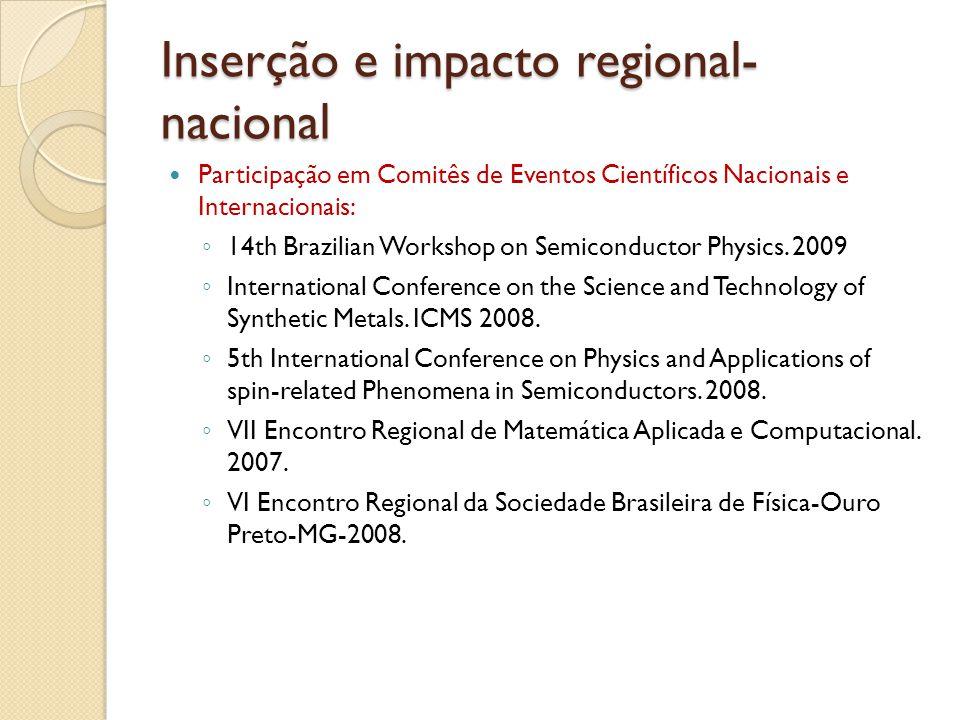 Inserção e impacto regional- nacional