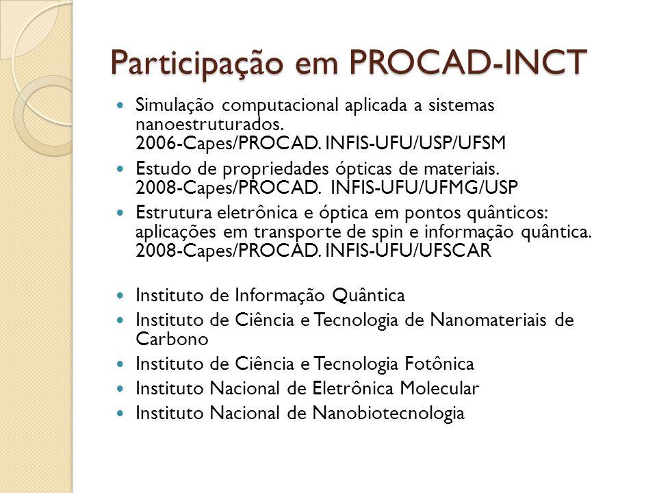 Participação em PROCAD-INCT