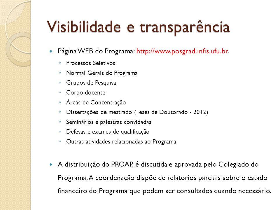 Visibilidade e transparência