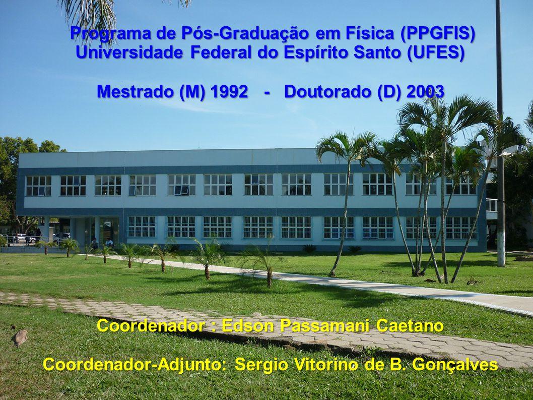 Programa de Pós-Graduação em Física (PPGFIS)