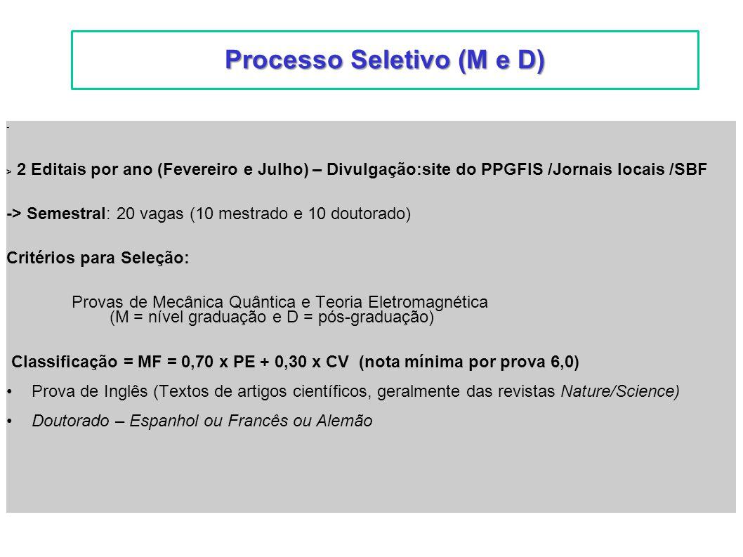 Processo Seletivo (M e D)