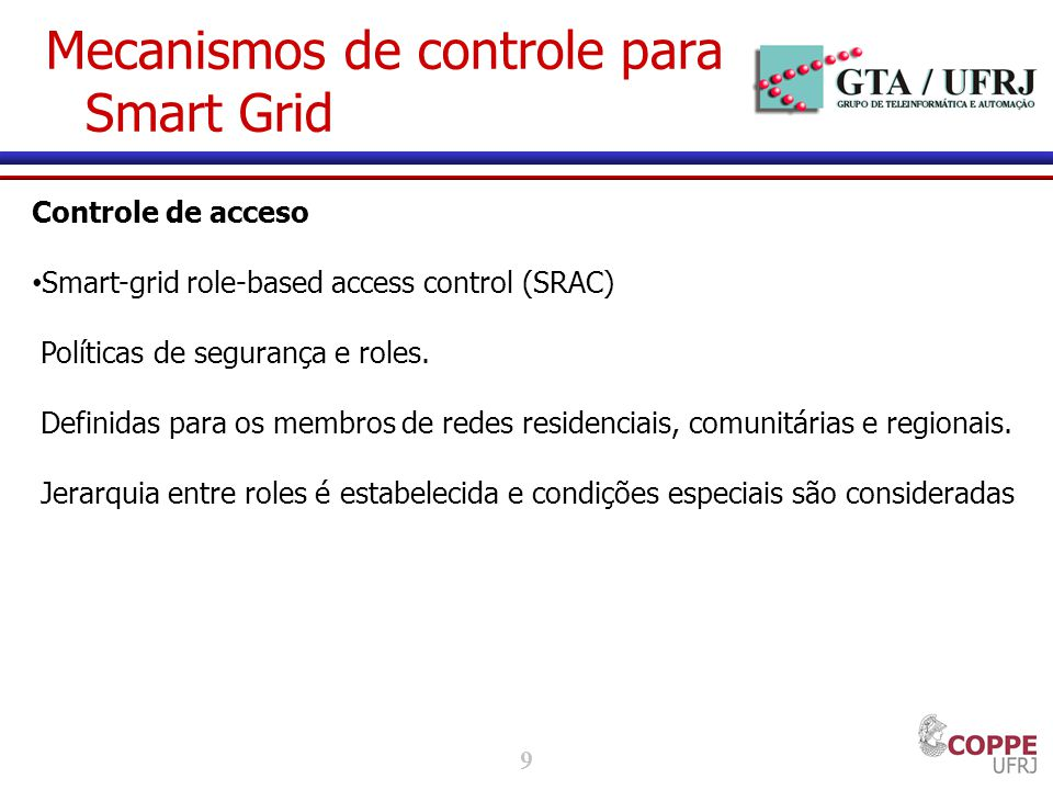 Mecanismos de controle para Smart Grid