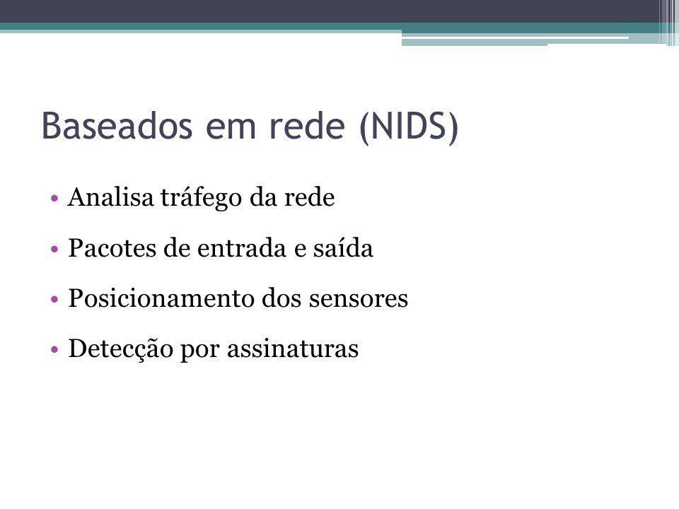 Baseados em rede (NIDS)