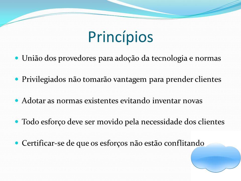 Princípios União dos provedores para adoção da tecnologia e normas
