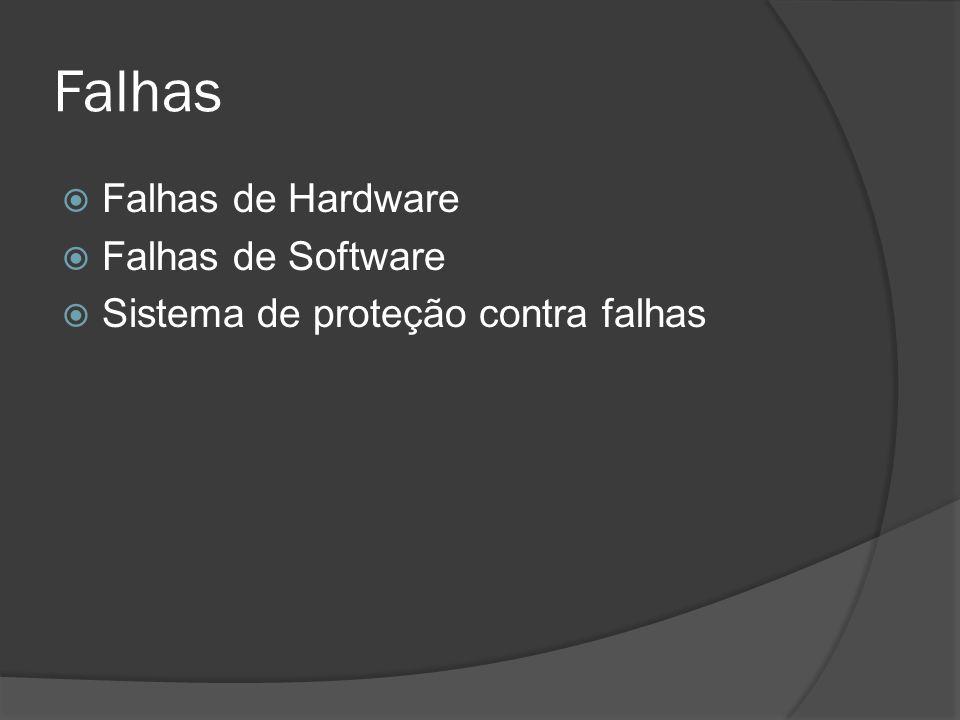 Falhas Falhas de Hardware Falhas de Software