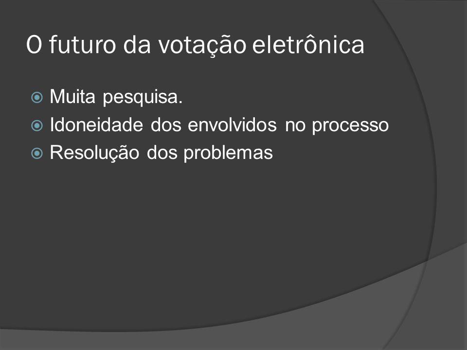 O futuro da votação eletrônica